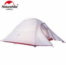 Naturehike Палатка 20D Силиконовые Ткани Сверхлегких 2 Человека Двойных Слоев Алюминиевой Катанки Палатка 4 Сезон С Мат