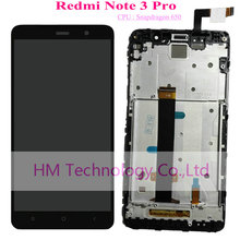 Black White Gold LCD TP Frame for Xiaomi Redmi Note3 Pro Note 3 Pro Snapdragon 650