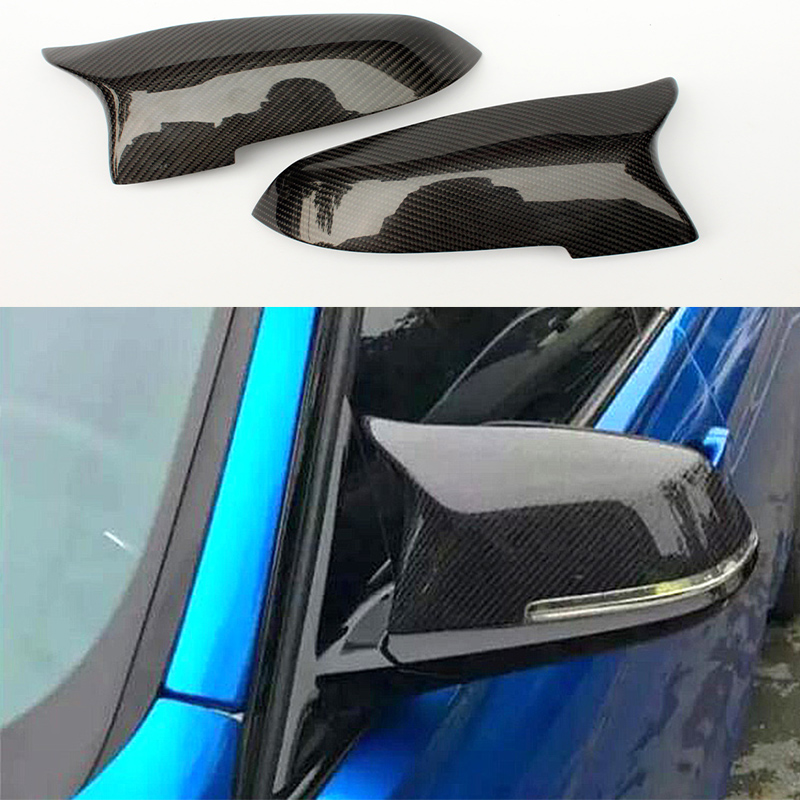 F10 Carbon Fiber Replace Car Tuning Side Wing Mirror Cover Trim for BMW F10 2014-2016 цены