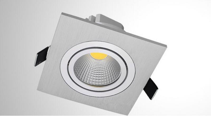 5W 7W 10W COB zatemnitvene LED luči navzdol kvadratne steklene luči - Notranja razsvetljava - Fotografija 3