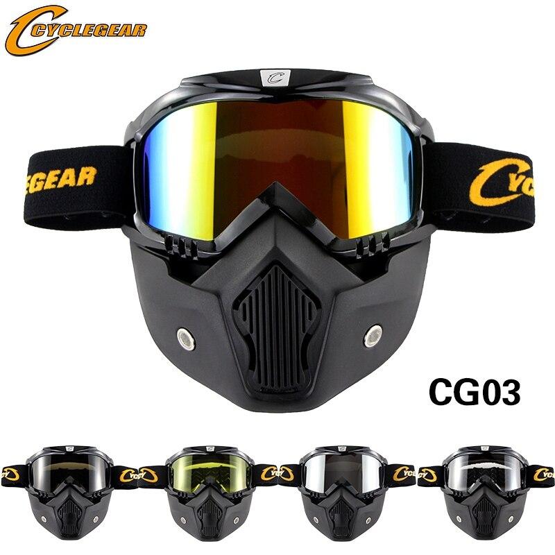 Vintage Helmet Mask Goggle Moto Bike Glasses Fitting Retro Motorcycle Helmet Shield  Gafas Cyclegear CG03 goggles moto helmet mask gogglemoto goggle - title=