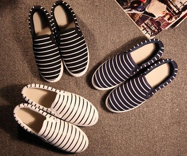Chaussures Bande De Shoeswsh655 Appartements Femme Femelle Impression Plat Femmes Automne Paresseux Noir Sneakers Loisirs Printemps blanc Toile Classique bleu zMVqUGSp