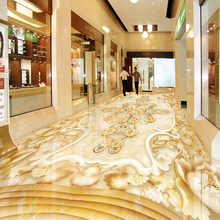 Custom 3D Floor Marble Flower Pattern