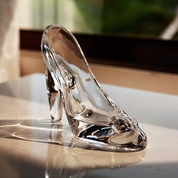 Хрустальная обувь; стеклянные тапочки; подарок на день рождения; домашняя обувь Золушки на высоком каблуке; Свадебная обувь; миниатюрный ор... >> Uspider Store