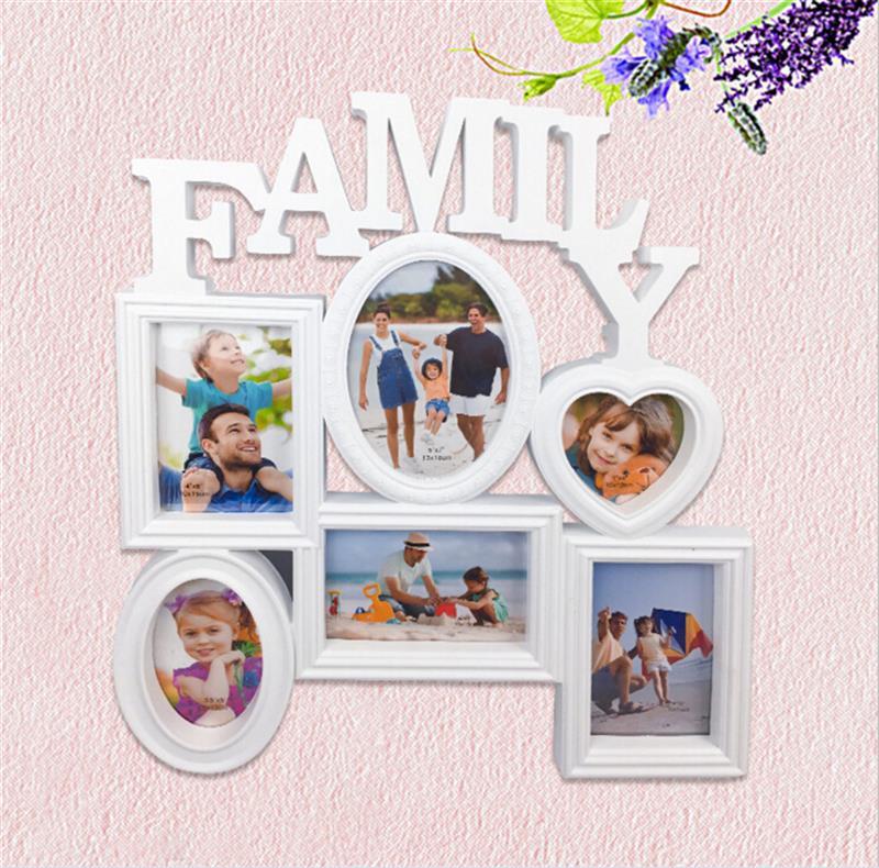 Collage Bilderrahmen 6 Öffnungen Familie Hängen Bilderrahmen ...