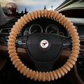 4 COLORS Winter Plush Fur Car Steering Wheel Cover Cute For 95% Car Styling,38cm Cheap Factory Wholesale Free Shipping