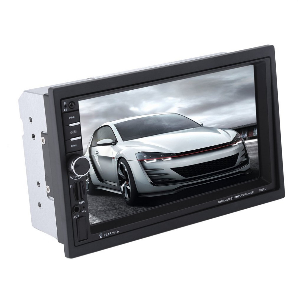 New 7020G 7 inch Touch Screen Car Bluetooth Audio Stereo MP5 Player with Rearview Camera GPS Navigation FM Function car mp5 player with rearview camera gps navigation 7 inch touch screen bluetooth audio stereo fm function remote control