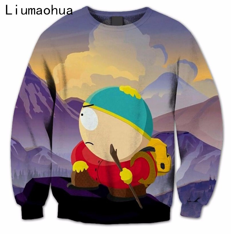 Liumaohua2018 New Style Sweatshirts Mens/Womens South Park Beautiful 3D Print Casual Sweatshirt Innovative Design Pullover