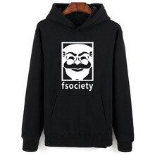 Mr Roboter Fsociety Männer Hoodies Baumwolle Plus Größe XXS-4XL Schwarz Hoodie Sweatshirt Harajuku Übergroßen Streetwear