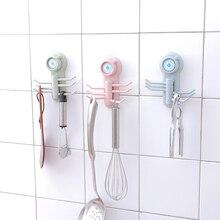 Кухня ванная крюк для хранения одежда вешалка для полотенец Органайзер 1 шт. прочный вакуумный присоски настенные крючки шесть когтеобразные Крючки стойки