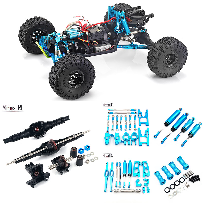 Metal Parts For Wltoys 12428 12423 RC Car Upgrade Parts RC Truck Metal Set Accessories Tire Metal Differential Wave Box