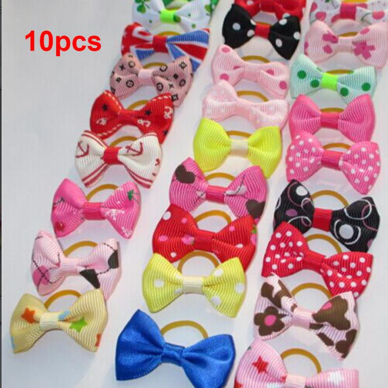 HTB18PXvlsj B1NjSZFHxh5DWpXaH - 10PCS Bowknot Cute Dog Rubber Band Handmade Pet Grooming Accessories