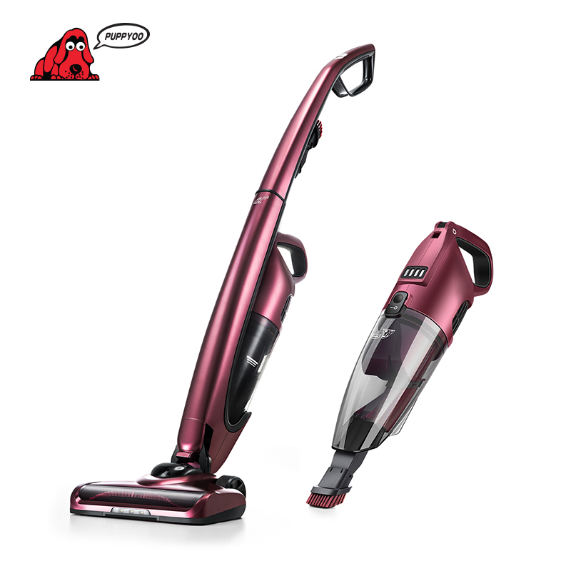 PUPPYOO WP511 Cordless Handheld Vacuum Cleaner Low Noise High Power Wireless Home Dust Collector Aspirator Lithium Charging цена и фото
