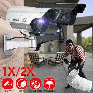 Image 5 - الطاقة الشمسية وهمية وهمية الأمن الأحمر LED CCTV كاميرا بجهاز اقتران الشحنات مراقبة المتغيرات