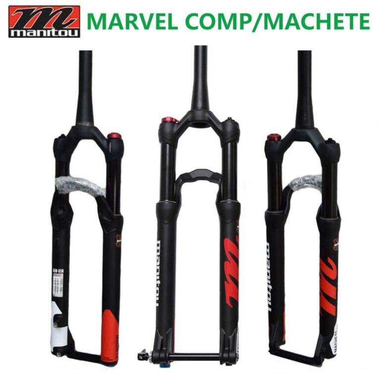 Bicicletta Forcella Manitou Marvel Comp Machete 27.5 29er air Forchette dimensione Mountain Forcella Della Bici MTB sospensione PK per SR SUNTOUR 2018