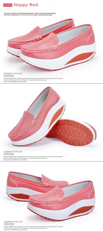 New Womens Shake Shoes Lady Genuine Leather shoes (22)