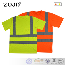 ZUJA High Visibility Safety Work Shirt Breathable Work Clothes Safety Reflective Safety Polo Shirt camp safety safety mesa work