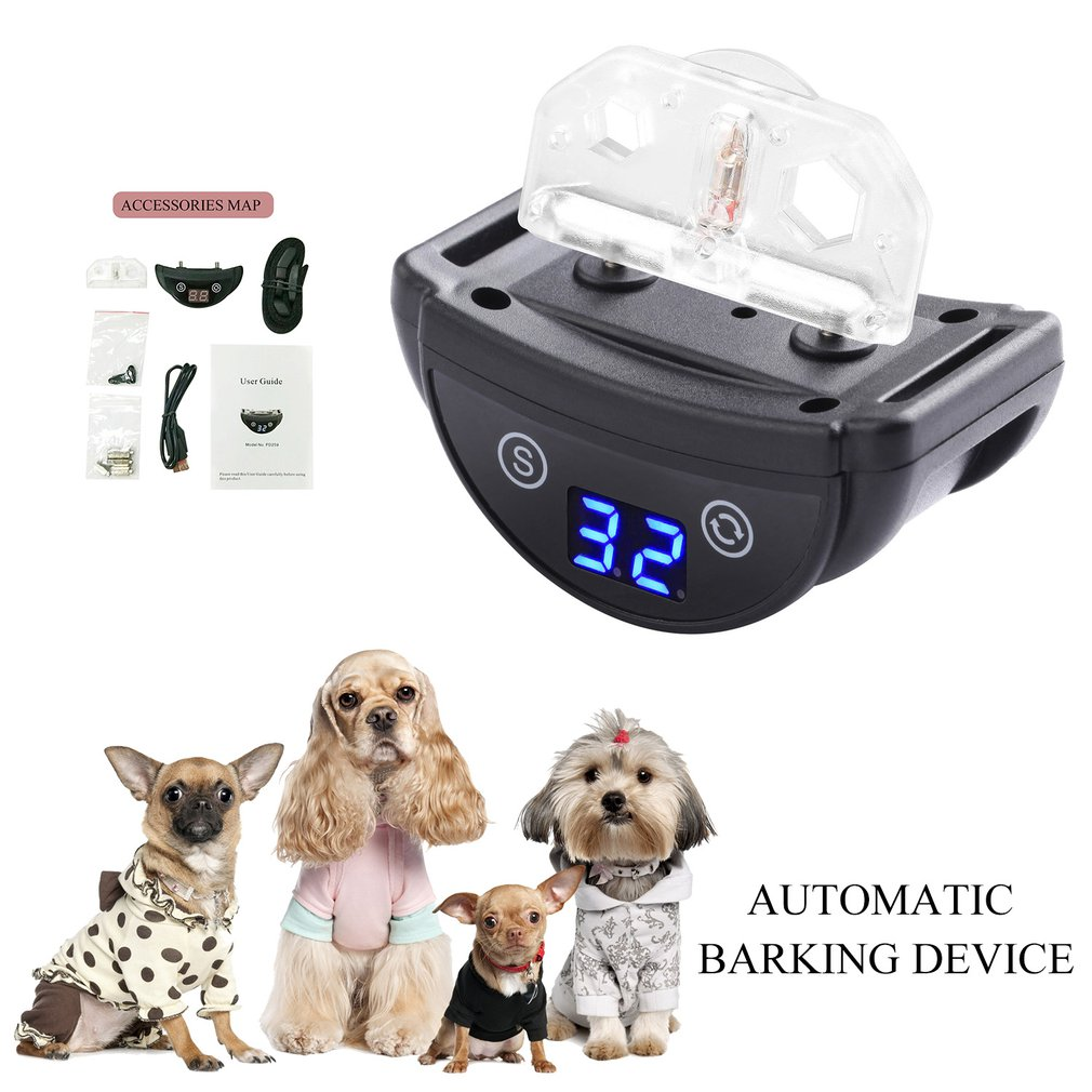 PD259 Dog Training Collar Vibration Anti-barking Collar Rechargeable Dog Trainer Bark Stop Device Pet Supplies