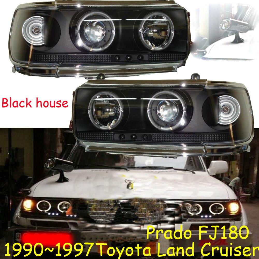 1 paire Prado 4500 LC80 FJ80 LED Ange Yeux Phare 1990 1991 1992 1993 1994 1995 1996 1997 année RC Noir/argent accessoires de voiture - 6