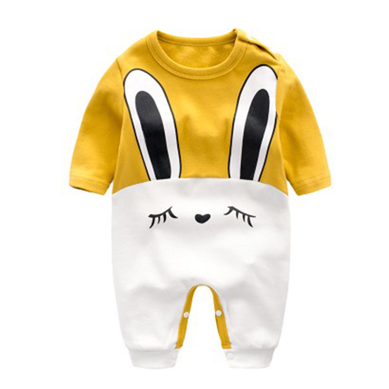 2018 Baby Rompers Spring Baby Boy Clothes Cotton Baby Girl Clothing Cartoon Newborn Clothes Roupas Bebe Infant Baby Jumpsuits