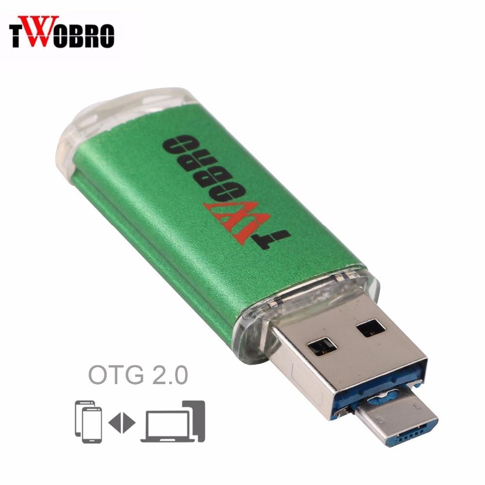 цена на USB Flash Drive 2.0 OTG 4GB 8GB 16GB Pendrive 32GB 64GB Dual Micro USB 2 In 1 Memory Stick Pen drive 2GB For Android Phone & PC