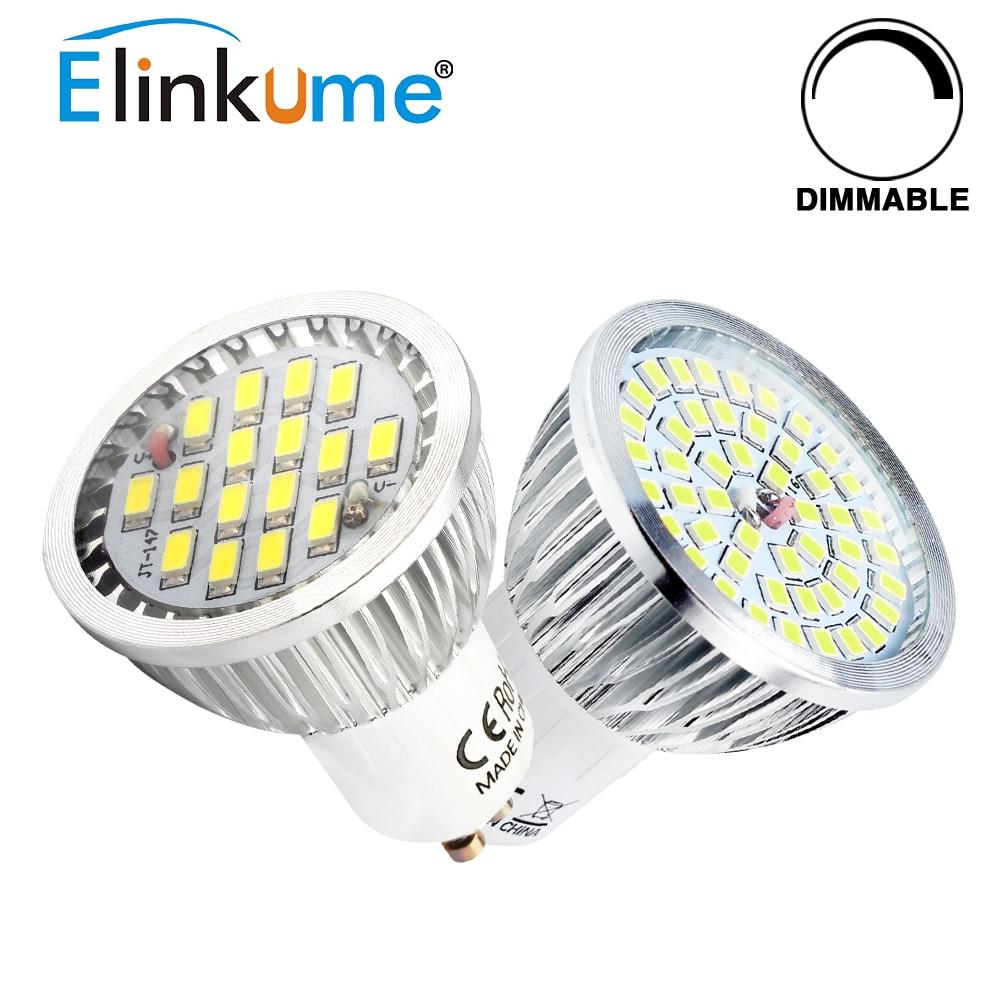 Elinkume GU10 Dimmbare Led Lampen 5 Watt Scheinwerfer 16 48 Stücke SMD2835  Lampe AC85