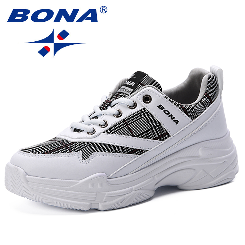 BONA 2019 New Style Running Shoes Woman Sport Shoes Women Sneakers Zapatos Corrientes De Verano Trendy