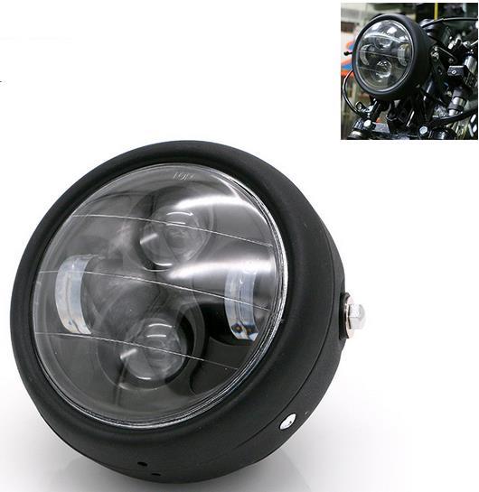 Alto baixo feixe h4 led frente farol da motocicleta chopper cafe racer cg125 gn125 lâmpada do farol luz lâmpada
