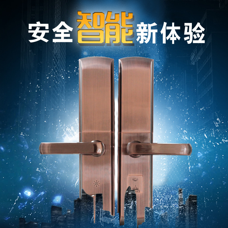 Fingerprint lock password Smart IC card door lock electronic household door lock smart combination lock factory outlet diy 4xaa battery smart password lock electronic combination lock wooden door guard against theft lock