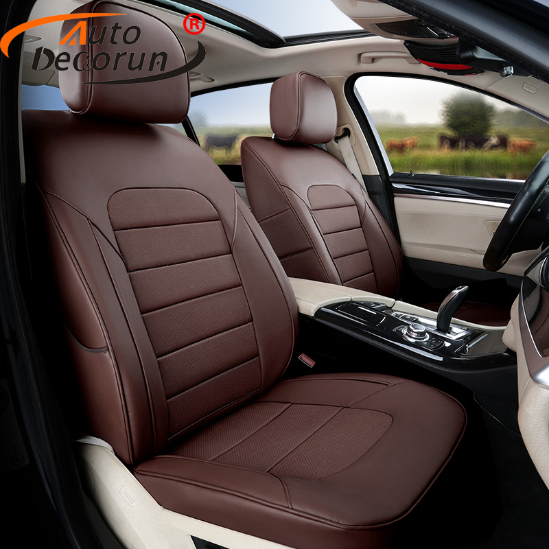 AutoDecorun Cowhide Custom Cover Seats for Hyundai Matrix 2006 Genuine Leather Seat Covers Supports Seats Protector Accessoires