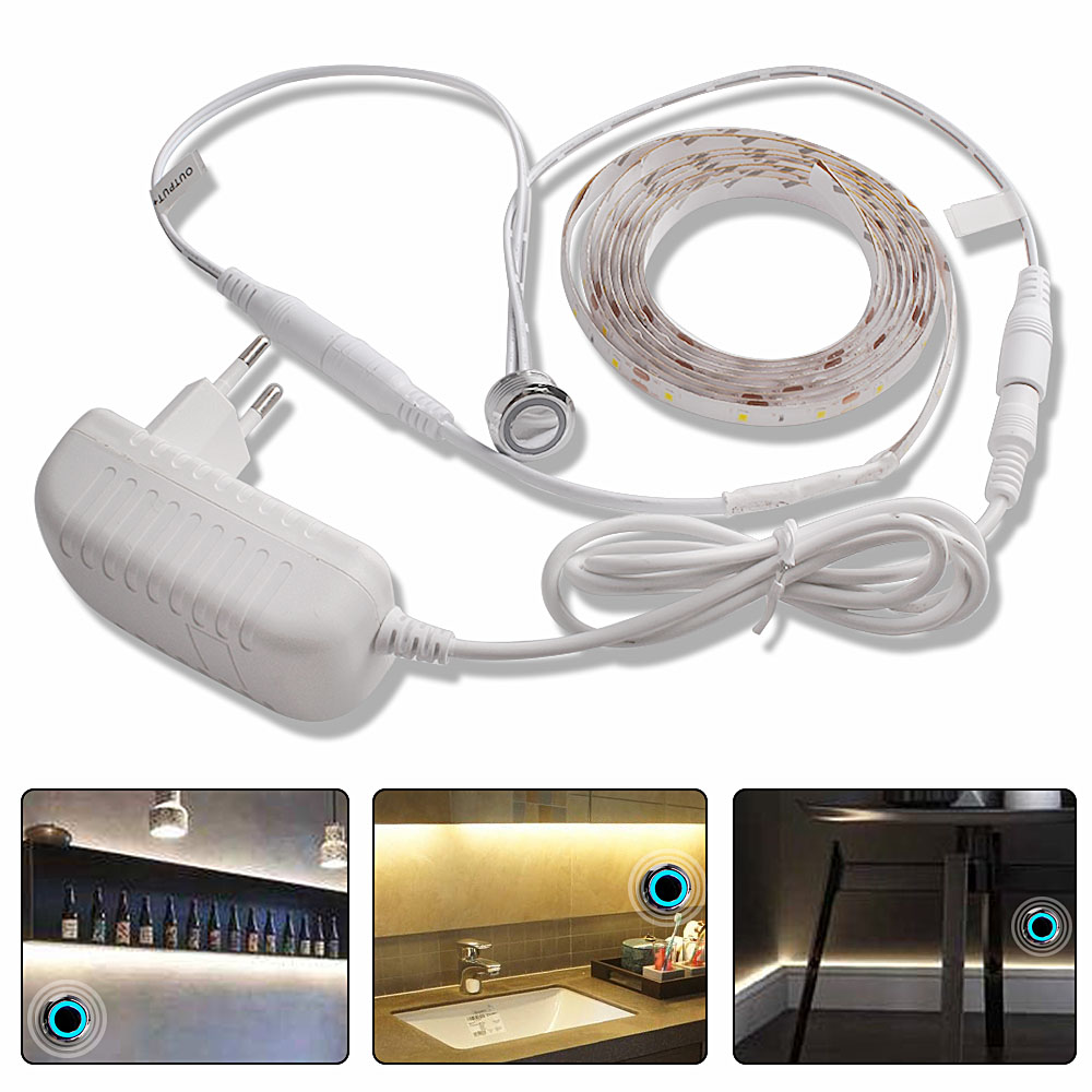 1M2M3M4M5M LED Under Cabinet Light LED Strip Light 12V Touch Sensor Switch Cupboard Bedroom Lighting (2)