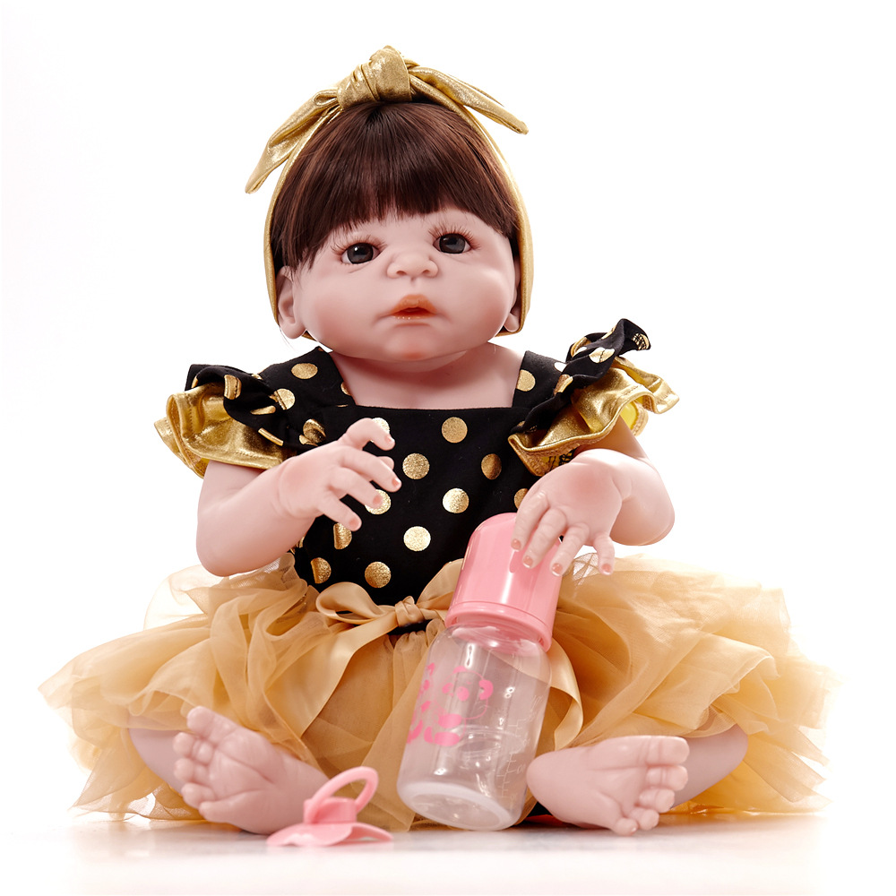 New Arrival Full Body Silicoen Bebe Reborn Girl Dolls Soft Silicone Vinyl Real Gentle Touch Bebe New Born Real Reborn BabyNew Arrival Full Body Silicoen Bebe Reborn Girl Dolls Soft Silicone Vinyl Real Gentle Touch Bebe New Born Real Reborn Baby