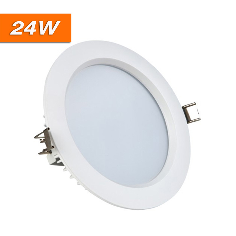 10pcs/lot Non driver 24W LED Downlight Dimmable White Lamp Driverless AC220V Recessed Ceiling Spot Lights