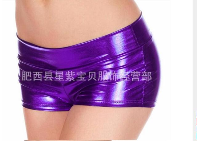 100pcs/lot! Hot sales Low Waisted Sexy Lycra Metallic Rave Booty Dance Shorts various colors 10 colors