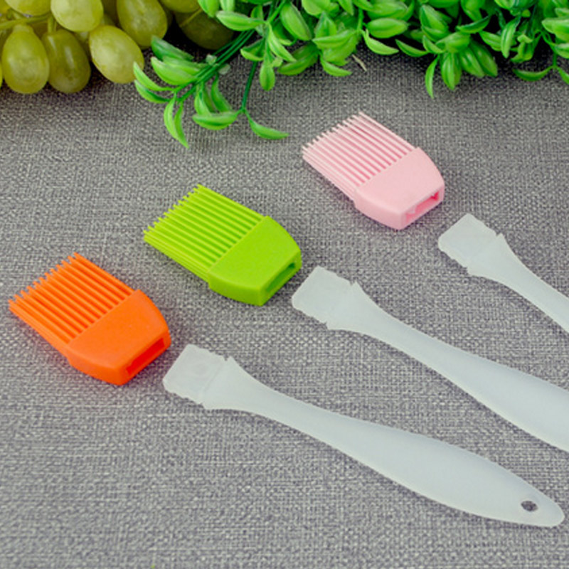 2 Pcs Hot Barbecue Brushes Silicone Basting Pastry Butter Oil Brush For Grilling Cake Pastry Turkey Desserts Baking Utensil