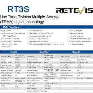 Image 5 - DMR Dual Band Retevis RT3S Digital Walkie Talkie (GPS) VHF UHF DMR Radio Amador Ham Radio Transceiver 2 Way Radio+Accessories