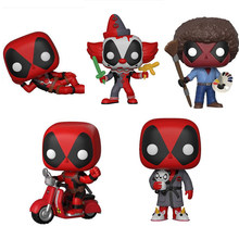 Deadpools Cosbaby Q Verison Shaking Head Car Decoration Ornaments dead Bob Ross POP Big Head PVC toys for Kids Boys Gift(China)
