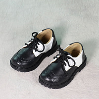 Autumn spring new children boys and girls students genuine leather shoes adult childrens shoes leather baby shoes 0826B