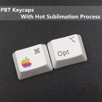 PBT Keycaps Commond And Option Keys Hot Sublimation Cherry MX Key Caps For MX Switches Mechanical
