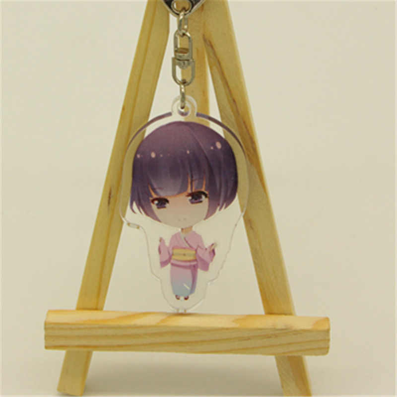 6 centímetros Anime Chaveiro EROMANGA Yamada SENSEI Izumi Sagiri Elf Knatai REZero tipos de chaveiro Doubleside Impressão Chaveiro Chaveiros