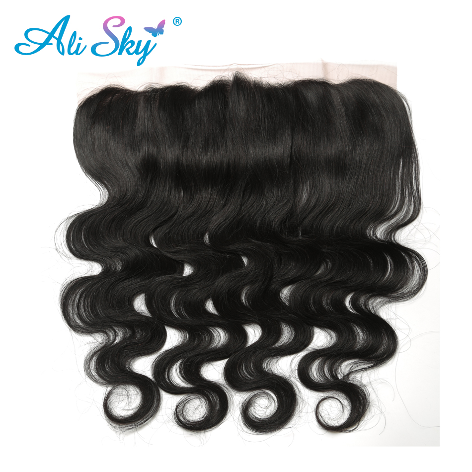 Alisky Hair Brazilian Body Wave Remy Hair 13 4 Lace Frontal Closure With Baby Hair Ear