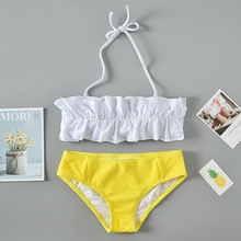 Wasteheart Summer White Black Halter Sexy Bikini Sets Women Swimsuit Strapless Swimwear Low Waist Bathing Suit Female