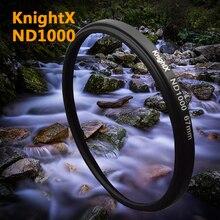 KnightX ND1000 filtr 52mm 58mm 67mm neutralnej gęstości ND 1000 dla Canon nikon EOS aparat cyfrowy obiektyw d3300 1200d zdjęcie 1300d