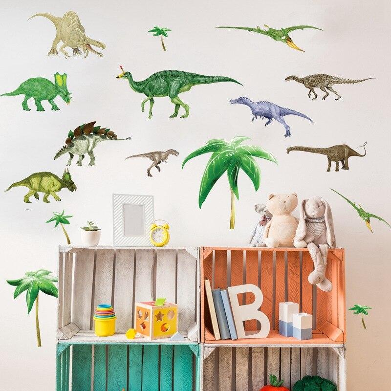Zs Aufkleber 130 130 Cm 51 51 Zoll Dinosaurier Kinderzimmer Kinder