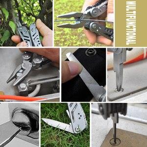 Image 5 - PRIVEST Multitool Pinze Pieghevoli Campeggio di Sopravvivenza Della Lama Multifunzionale Wire Stripper Attrezzo di Piegatura In Acciaio Inox Multi Pinza