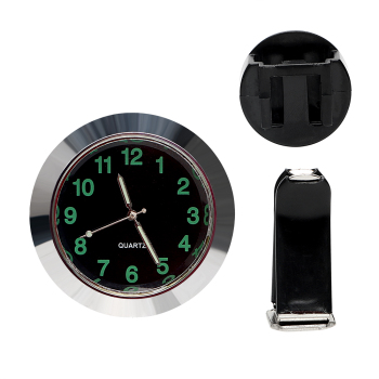 Car Air Vent Clip Clock Mini Quartz Watch Car Decoration Car-Styling Ornaments Car Clock Black Silver Mechanics
