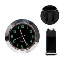 Автомобиль Air Vent клип часы Мини кварцевые часы украшение автомобиля-укладки Украшения автомобиль часы черный, серебристый цвет механика