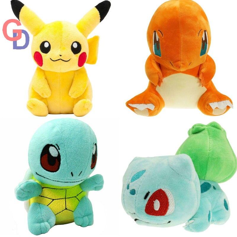 20 cm pikachu Plüsch Spielzeug Jigglypuff Poliwhirl Charmander Gengar spielzeug schlaf kissen Puppe Für Kind baby geburtstag geschenke Anime Weichen