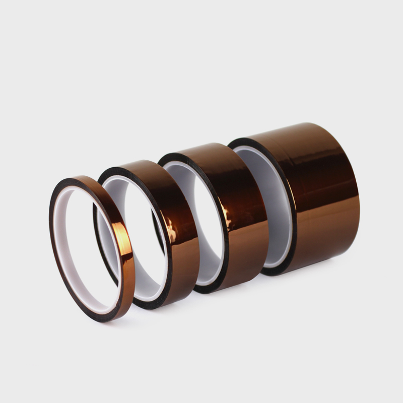 3PCS High Quality Polyimide resistance tape Gold High Temperature Heat Resistant Kapton Tape Polyimide BGA Polyimide finger tape 18mm high temperature resistant kapton tape