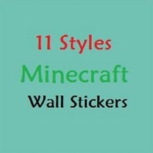 5pcs 14 Styles Minecraft Wall Stickers 3D Wallpaper Kids Room Decal  Minecraft Home Decoration Popular Games